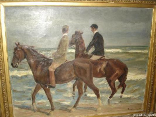"""""""Zwei Reiter am Strand"""" von Max Liebermann"""