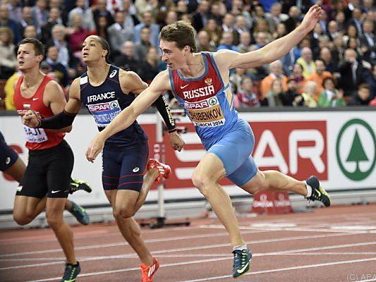 Sergej Schubenkow gewann den Hürden-Sprint