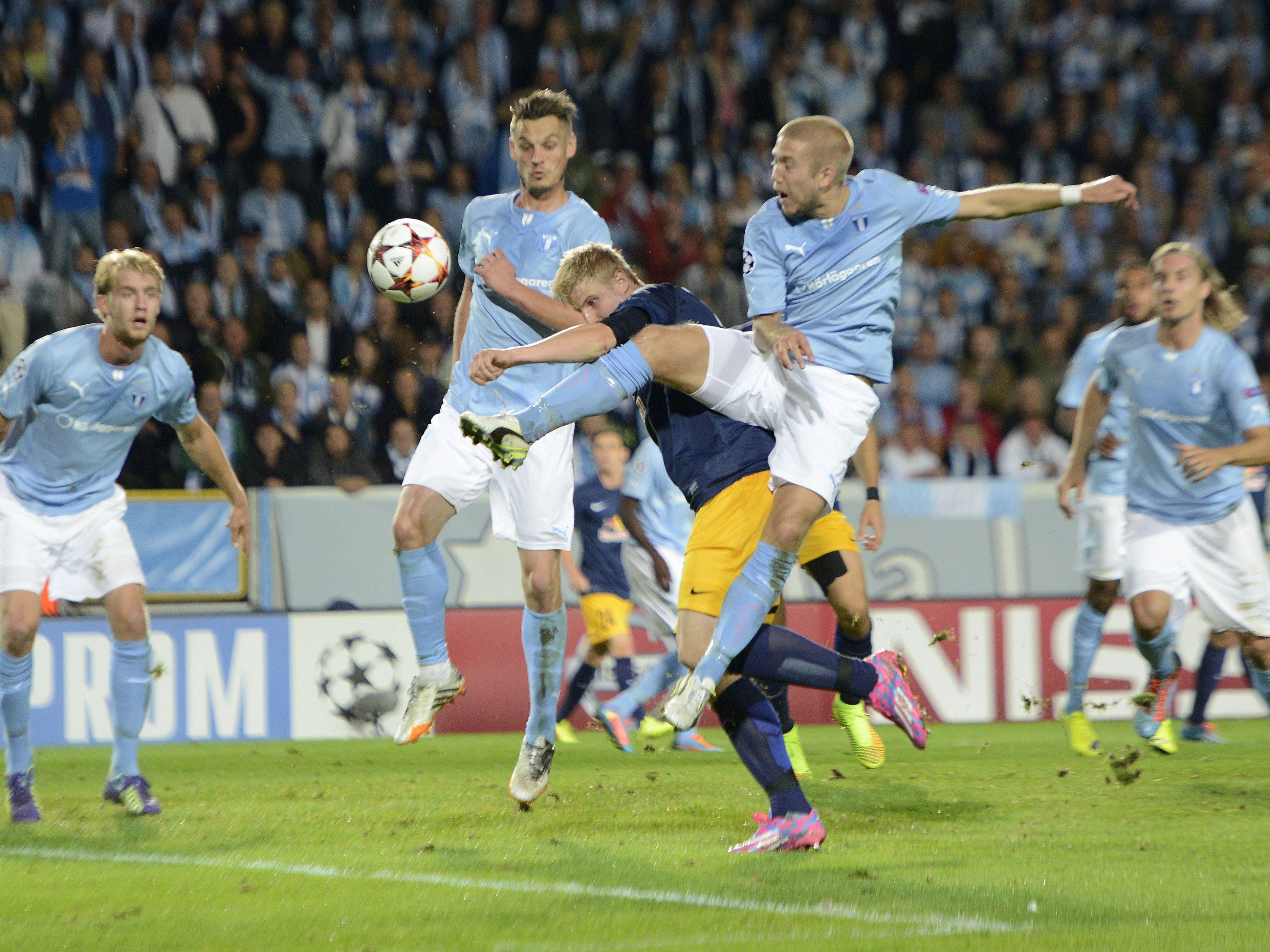 Champions League-Play-off: Malmö besiegt Red Bull Salzburg mit 3:0.