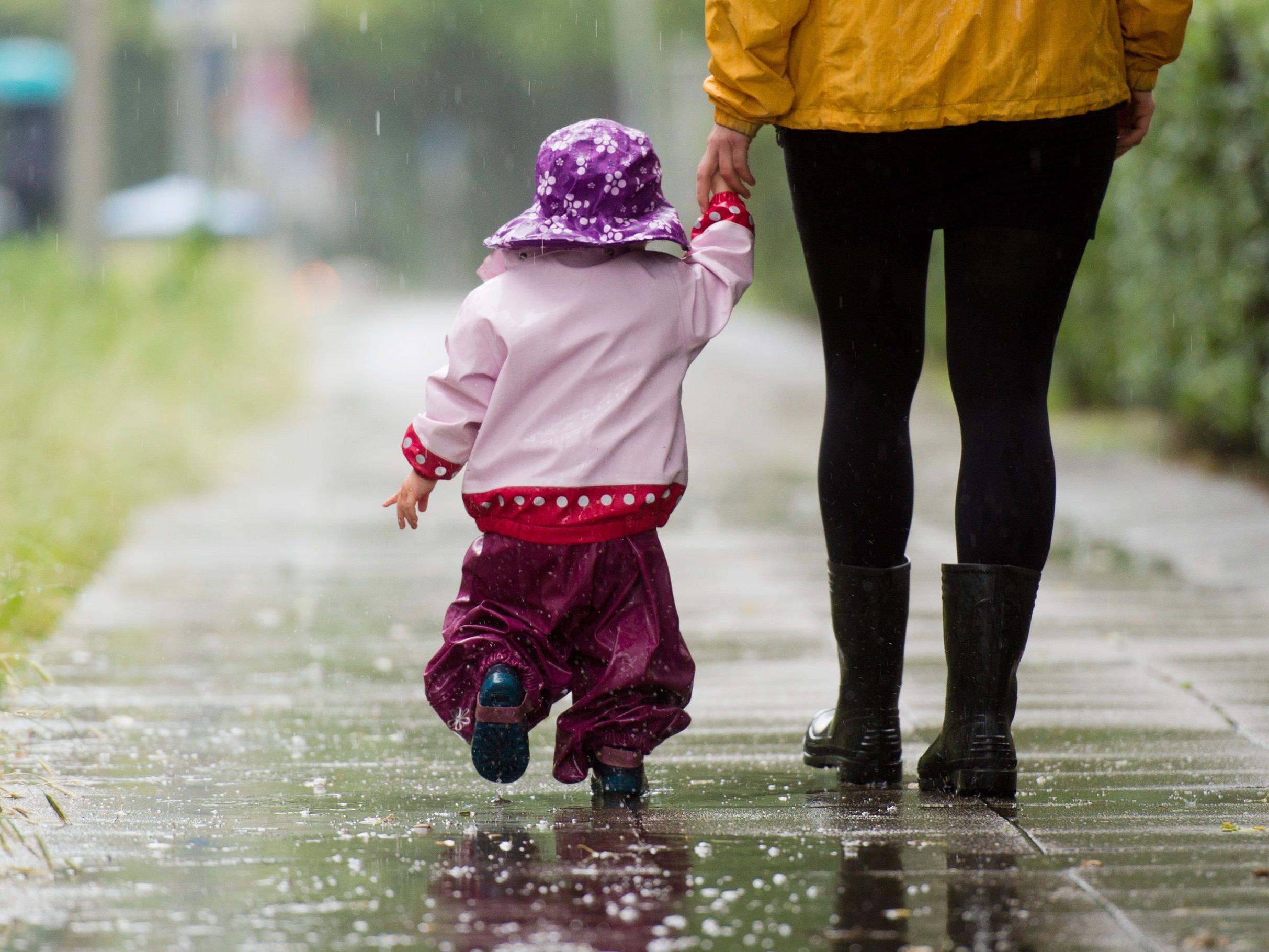 Es bleibt weiterhin regnerisch in Wien.