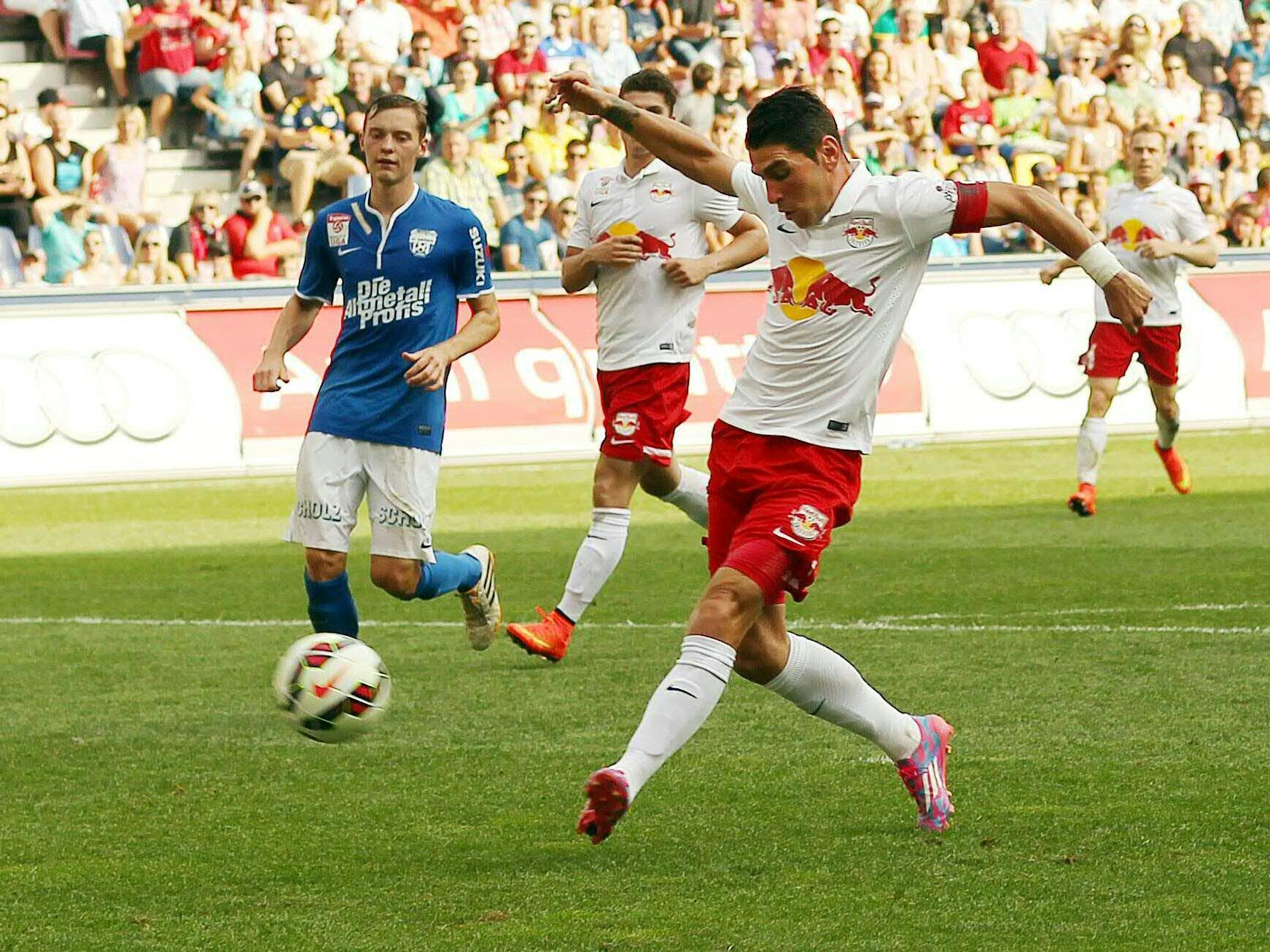 Fußball: Salzburg holte mit 8:0 gegen Grödig Vereins-Liga-Rekord-Sieg