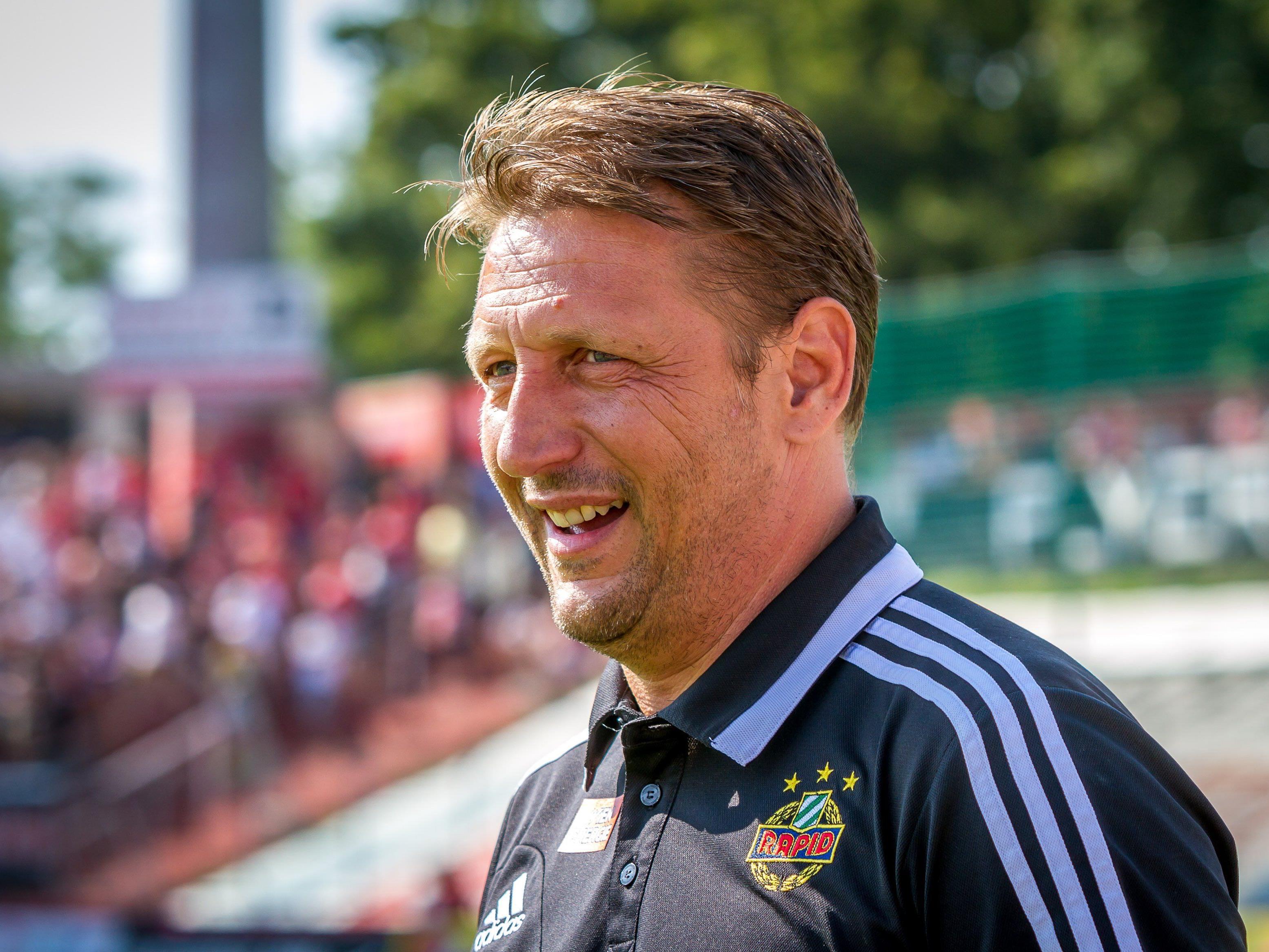 Rapid Wien und Trainer Barisic wollen in die Gruppenphase der Europa League.
