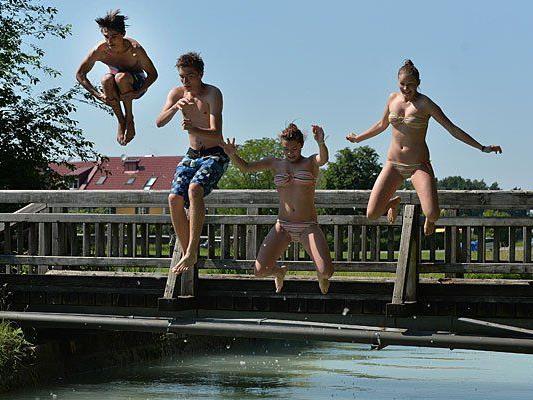 Werden wir den August über in Wien noch baden gehen können?