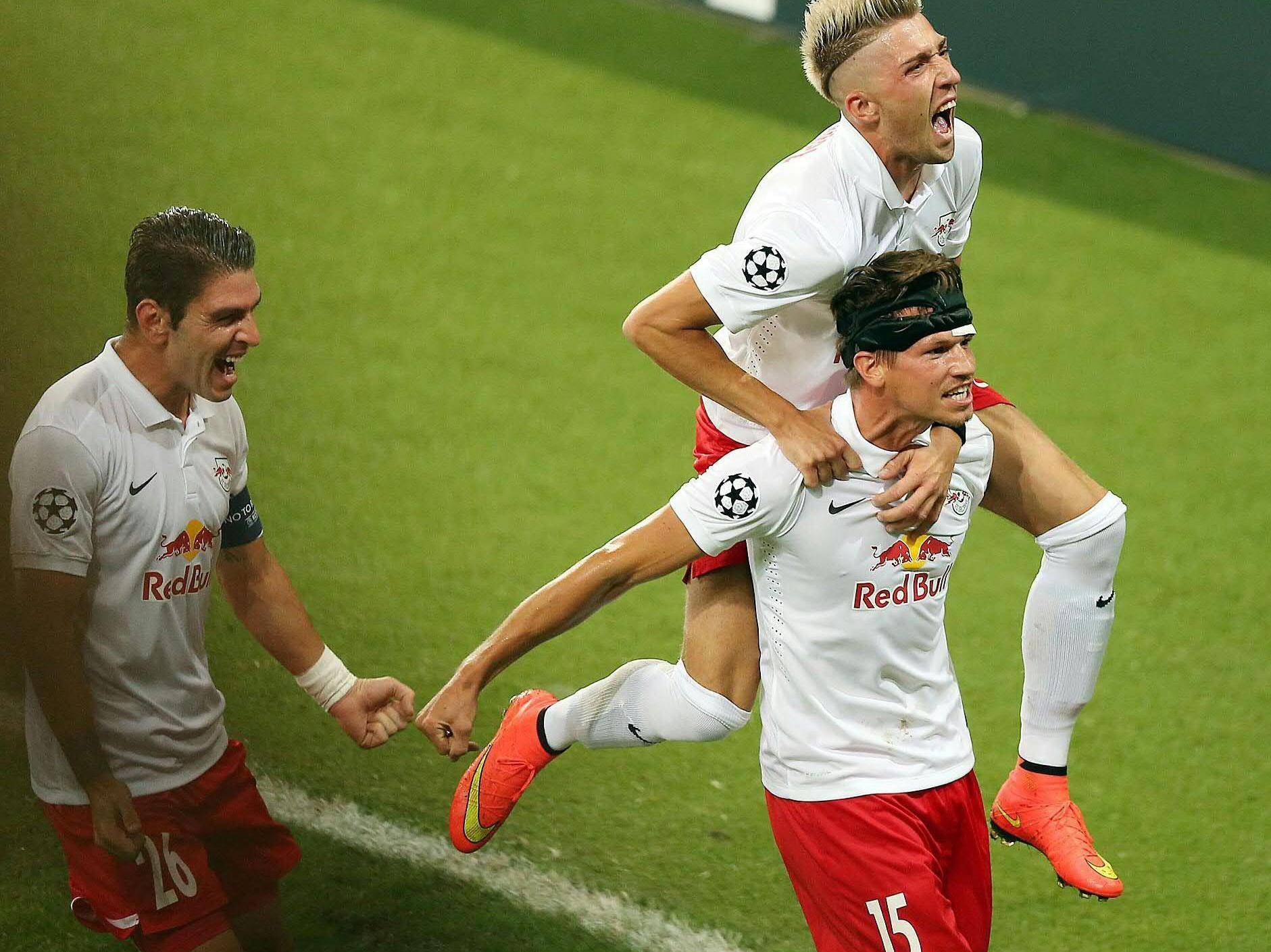 Schiemer brachte die Salzburger nach 16 Minuten mit 1:0 in Führung.