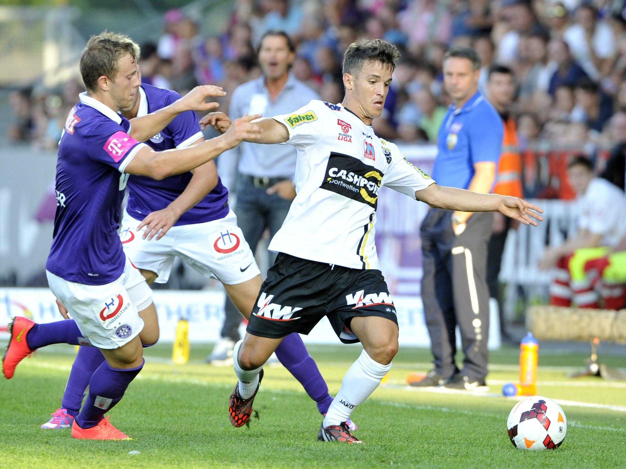 Duell Altach gegen Austria Wien endet 0:0.
