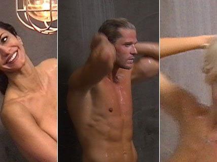 Promis unter der Dusche - kein seltener Anblick in der Show.