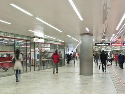 In der U-Bahnstation Karlsplatz gab es am Freitag einen WEGA-Einsatz.