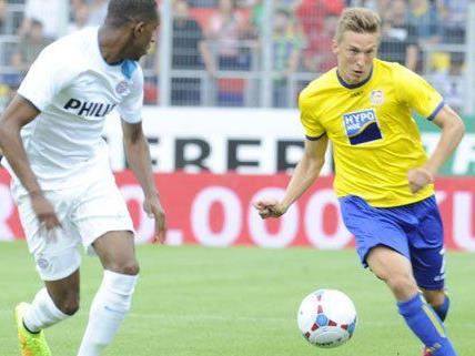 St. Pölten war lange Zeit ein unangenehmer Gegner für PSV Eindhoven.