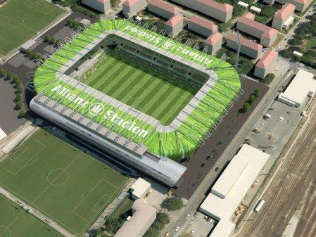 2016 soll das neue Stadion fertiggestellt werden.