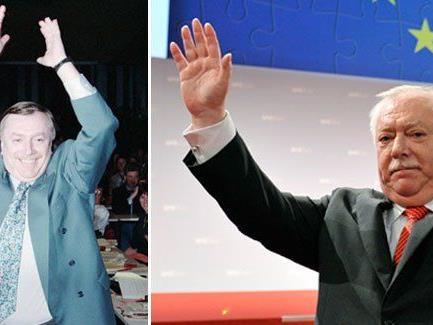 Bürgermeister Michael Häupl bei seinem Amtsantritt 1994 und heute