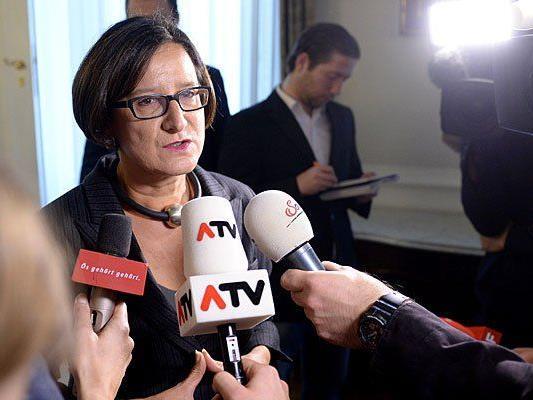 Johanna Mikl-Leitner im Rahmen einer Sitzung des Ministerrates am Dienstag