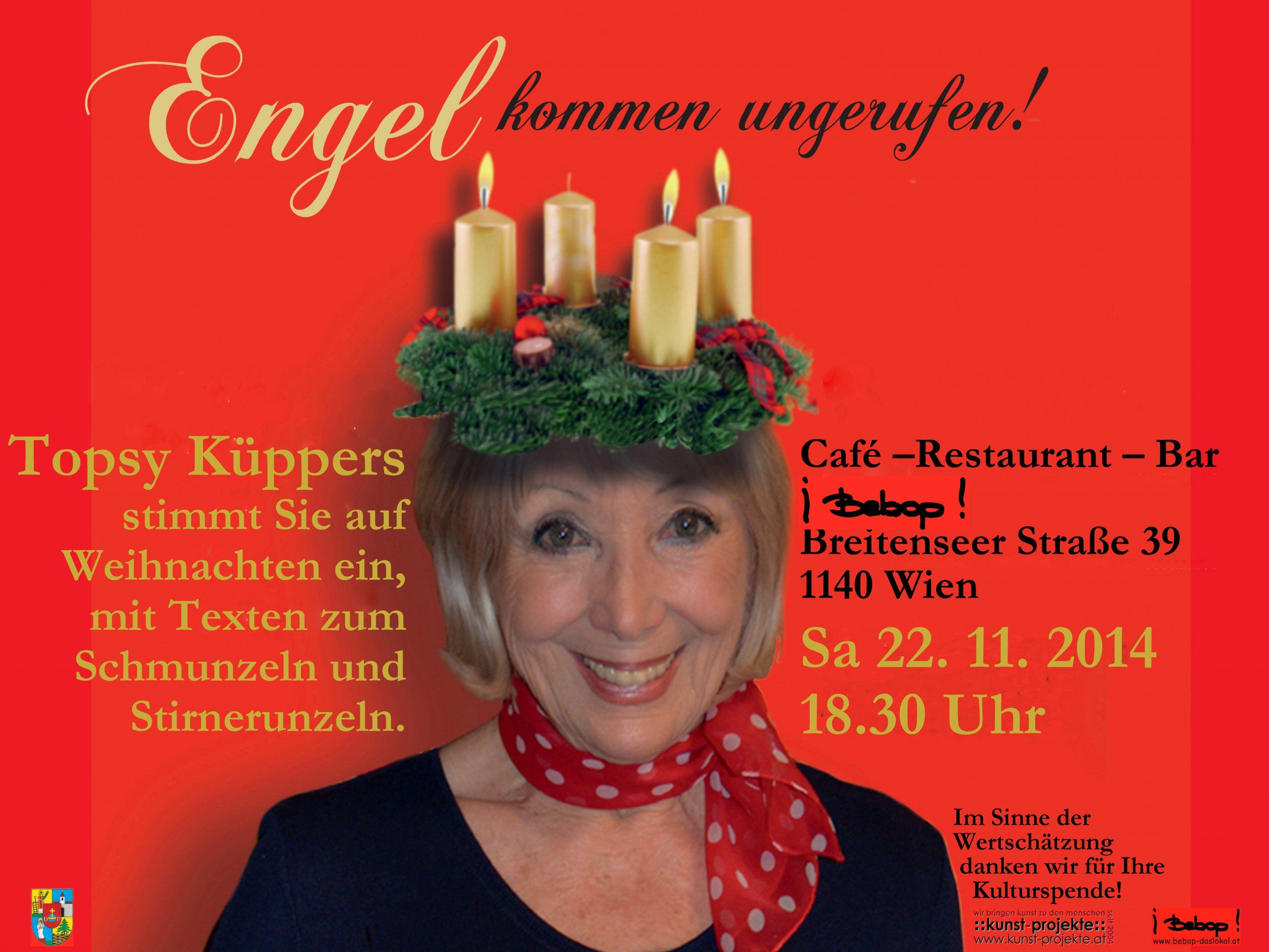 Topsy Küppers Adventlesung 22. November im Bebop