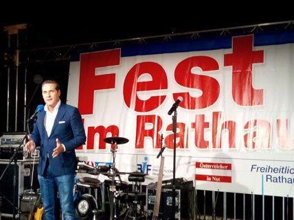 HC Strache bei seiner Rede am Mittwochabend.