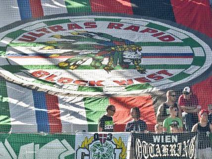 Rapid-Fans in Wien vor Gericht.