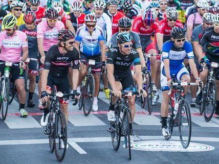 2.000 Hobby- und Profiradler nahmen an dem Rennen am Sonntag in Wien teil.
