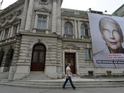 Das Wiener Volkstheater wirbt um Spenden.