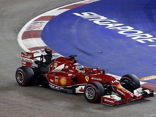 Alonsos Helm in einem Farrari - wie lange noch?