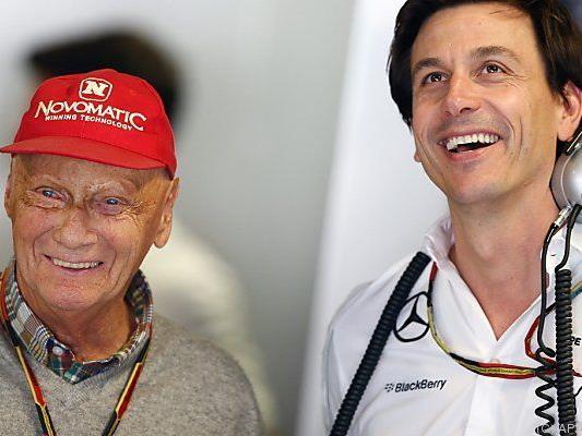 Freude bei Niki Lauda und Toto Wolff