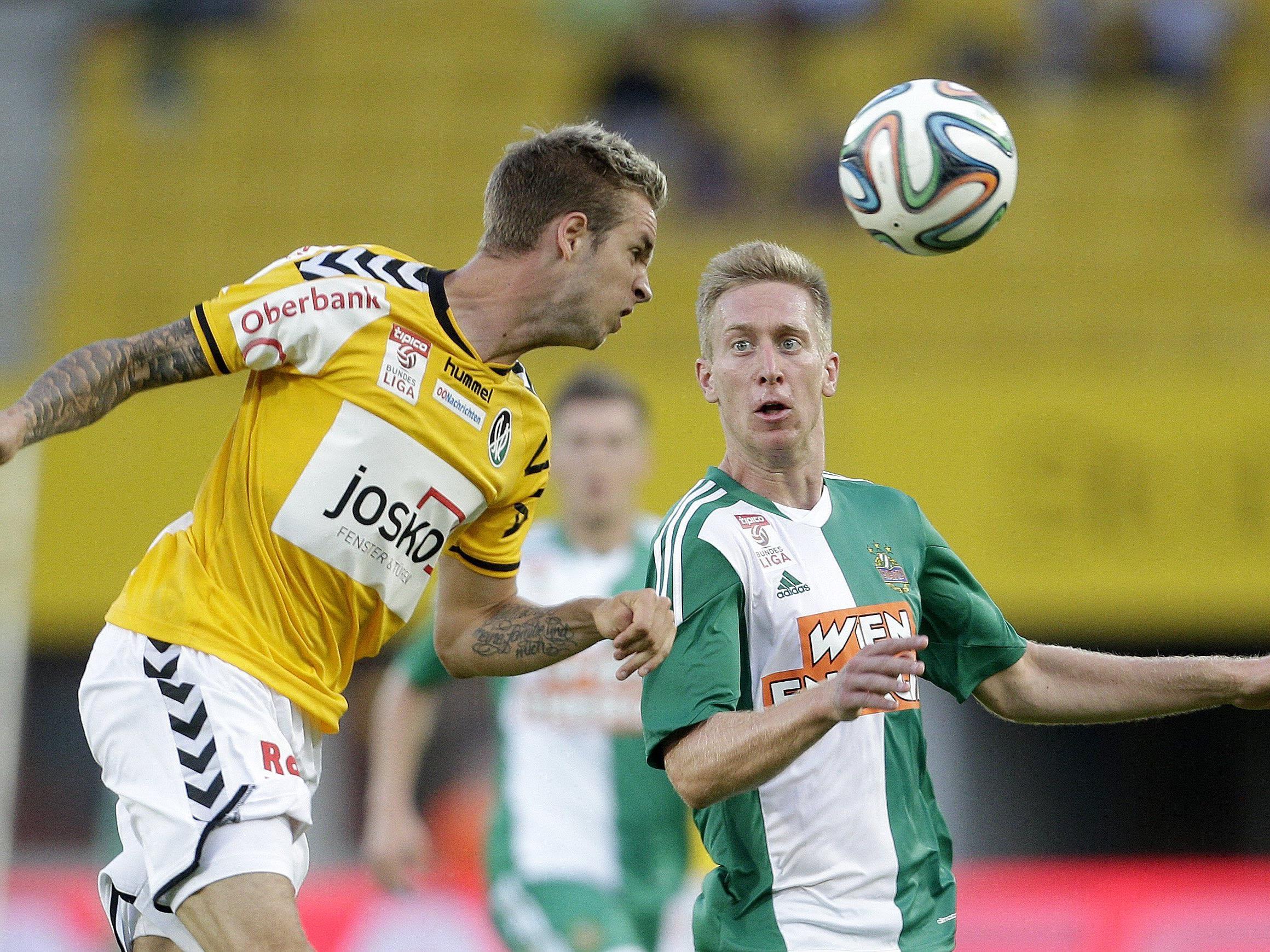 LIVE-Ticker zum Spiel SV Ried gegen SK Rapid Wien ab 16.30 Uhr.