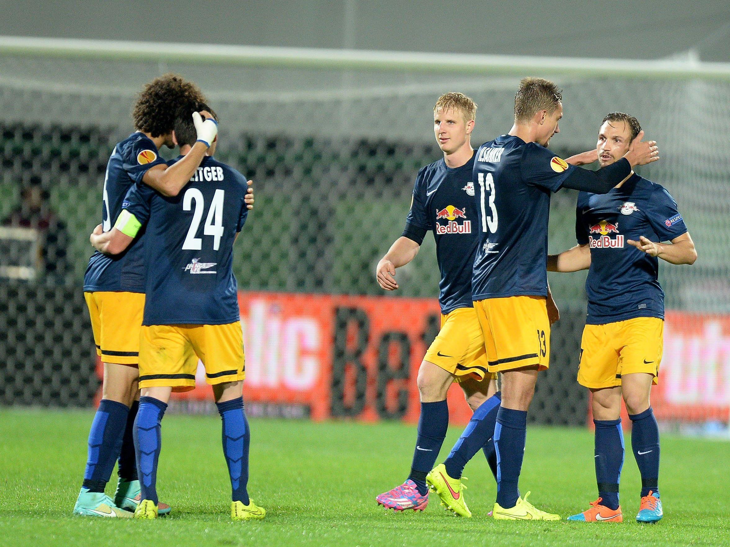 Red Bull Salzburg feierte einen 2:1-Sieg in der Europa League.