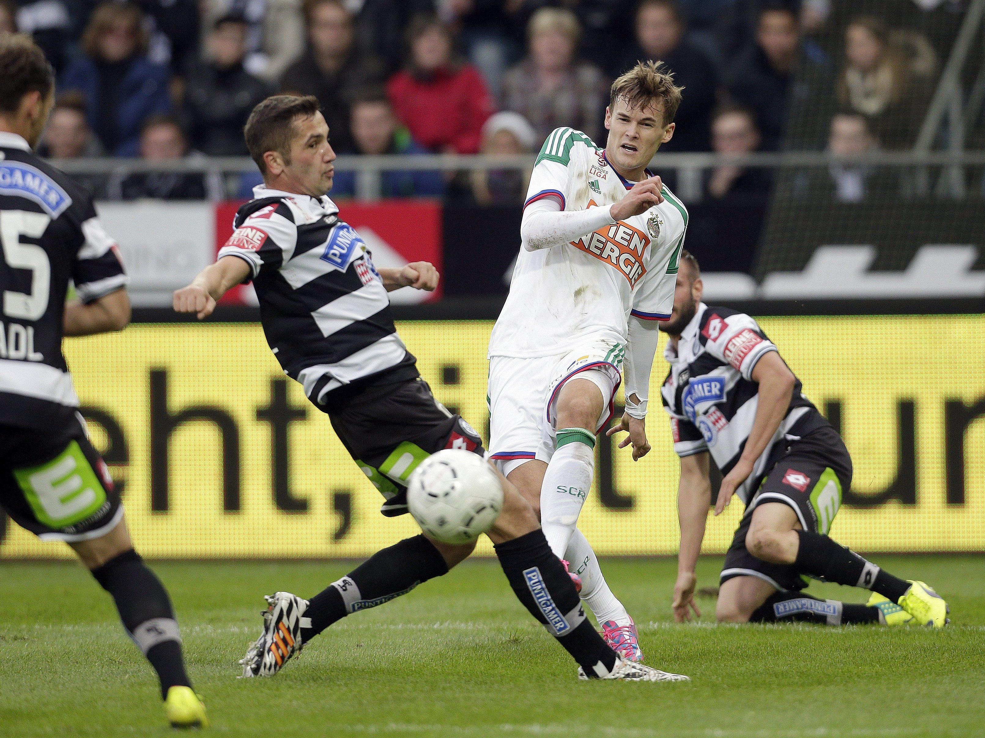 Im ÖFB-Cup Achtelfinale treffen Rapid Wien und Sturm Graz erneut aufeinander.