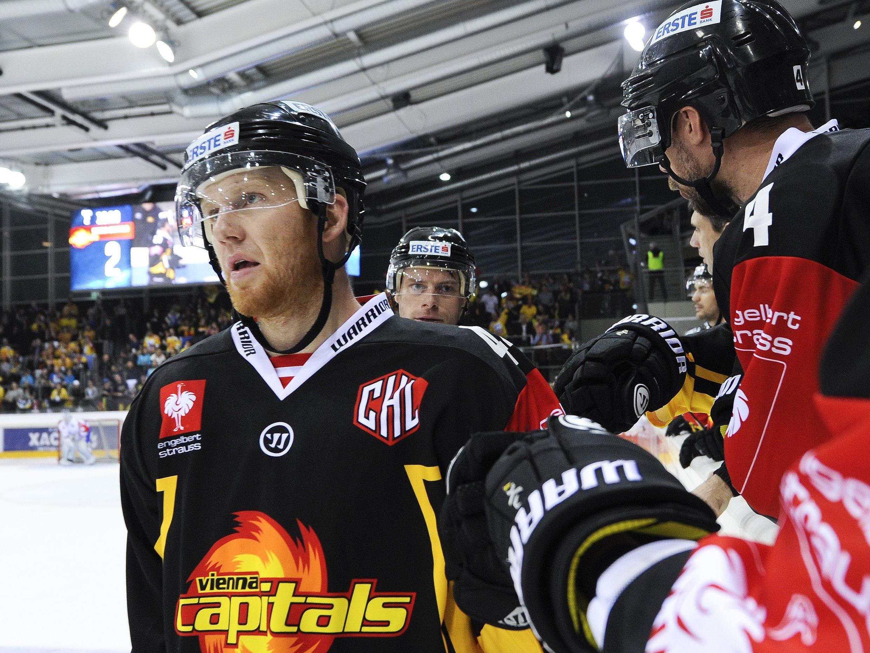 Die Vienna Capitals siegten über den KAC mit 2:1.