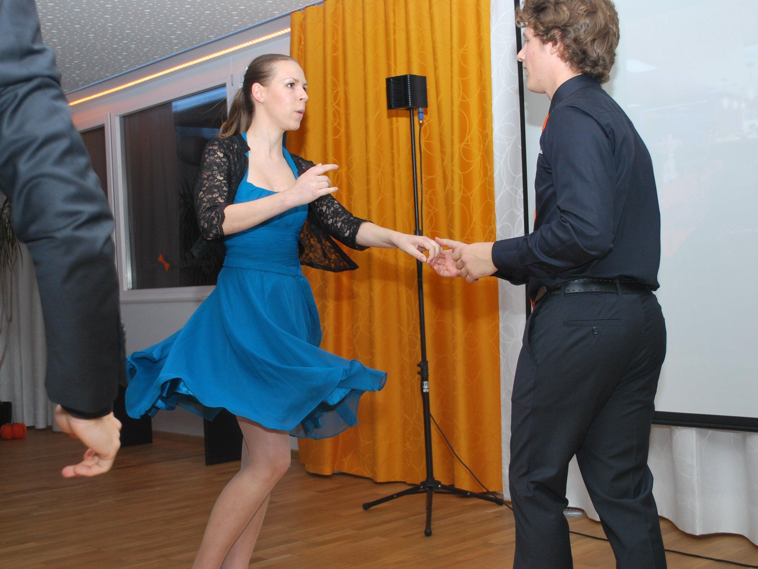 Angela Beck und Philipp Hartmann lieben das Tanzen