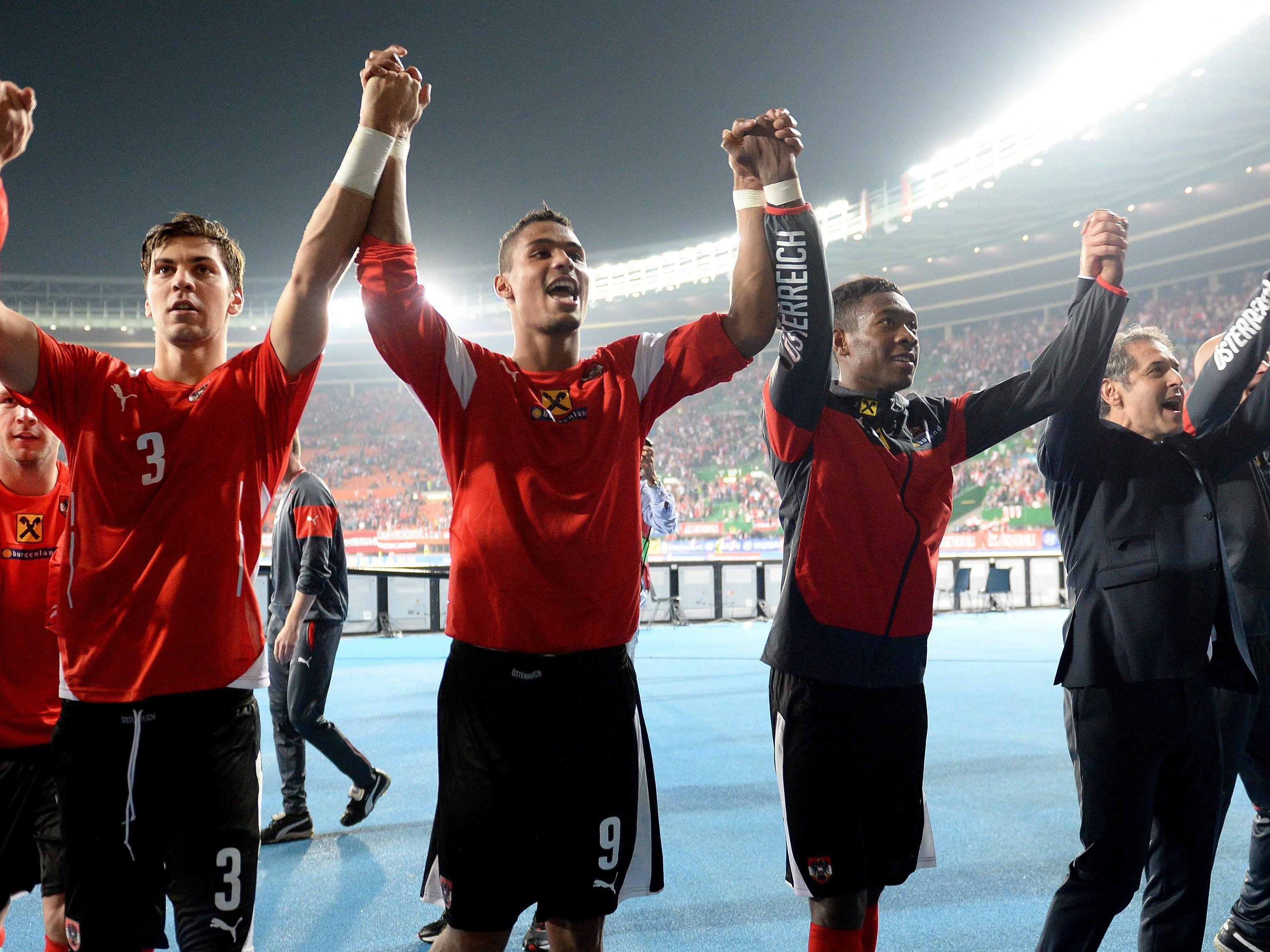 Österreich bejubelt einen hochverdienten Heimsieg gegen Montenegro.