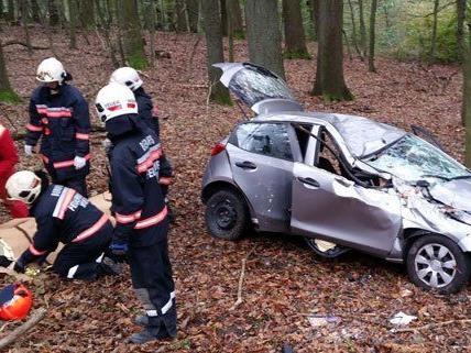 Verkehrsunfall in der Höhenstraße in Wien