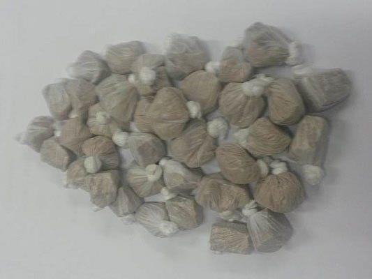 Diese Heroinpäckchen wurden bei dem Mann sichergestellt