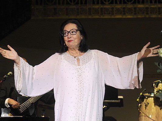 Nana Mouskouri während des Konzertes im Konzerthaus in Wien