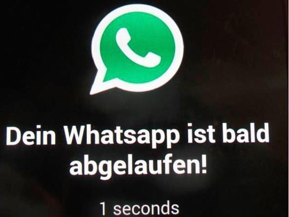 Eine gefälschte Version von WhatsApp versucht Kunden in die Falle zu locken
