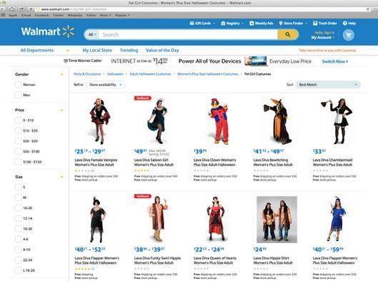 Walmart verfehlte die Kategorienbezeichnung von Halloween-Kostümen
