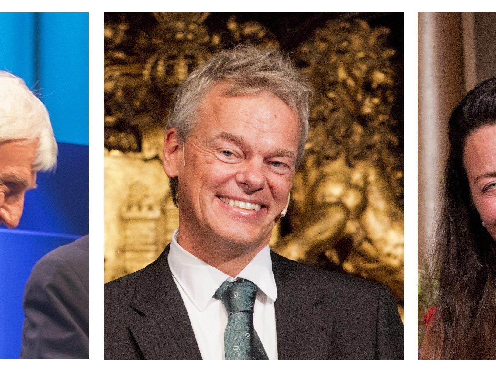 Medizin-Nobelpreis 2014 an John O'Keefe sowie Edvard und May-Britt Moser (v.l.).