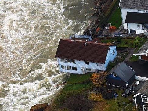 Fluten in Norwegen: 200 Menschen mussten ihr Zuhause verlassen.