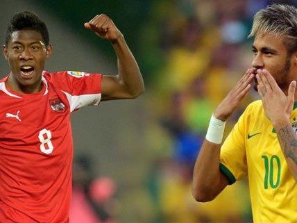 Das Testspiel gegen Fußball Redkordweltmeister Brasilien begeistert die Massen.