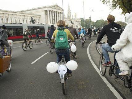 """Auch in Wien fand der """"Ice Ride"""" statt."""
