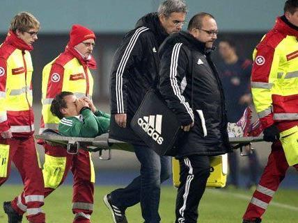Stefan Schwab verletzte sich im Cup Spiel gegen Sturm Graz schwer.