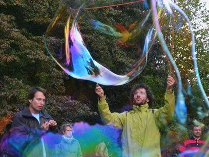 Am Sonntag wurde in Wien der Seifenblasen-Tag gefeiert.
