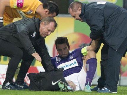 Markus Suttner zog sich im Spiel gegen Altach eine ernsthafte Verletzung zu.