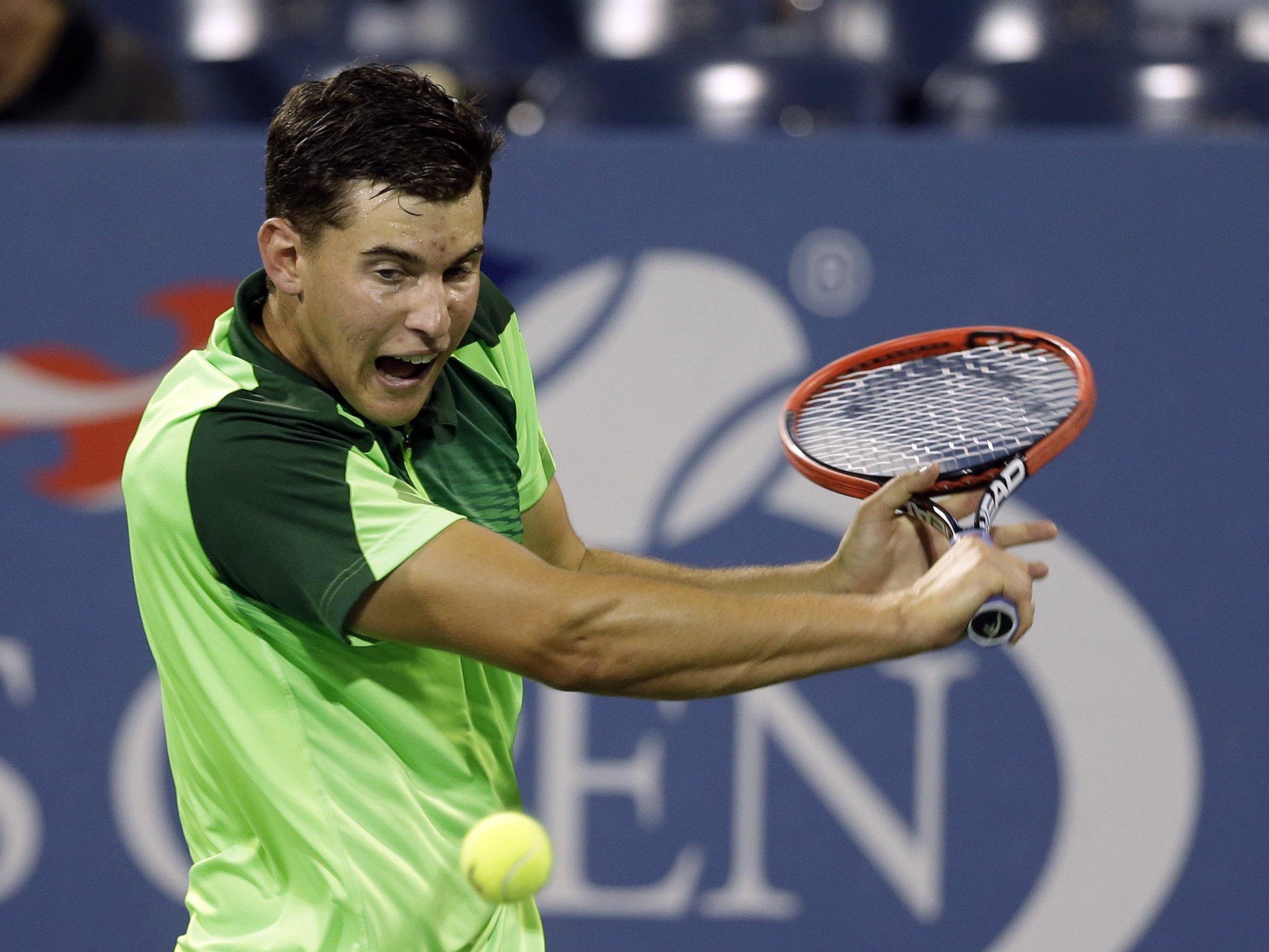 Österreichs Tennis-Shooting-Star Dominic Thiem.