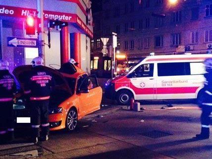 Verheerendes Bild nach dem Unfall am Wiener Gürtel