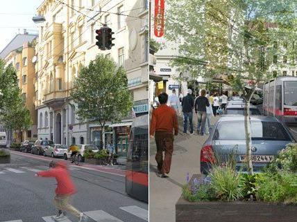 So könnte die Währinger Straße nach der Umgestaltung aussehen.