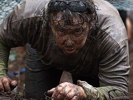 Den Läufern wird beim Wildsau Dirt Run Einiges abverlangt.