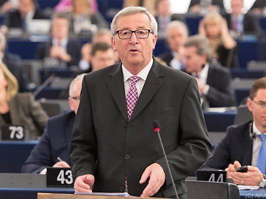 Juncker bei seiner Rede im EU-Parlament