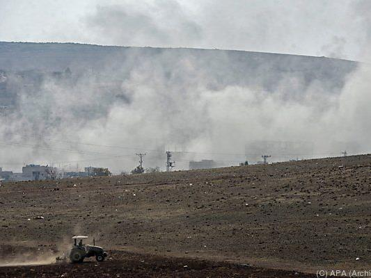 Die Kämpfe um Kobane dauern seit Wochen an