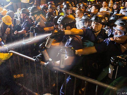Polizei setzte Pfefferspray ein