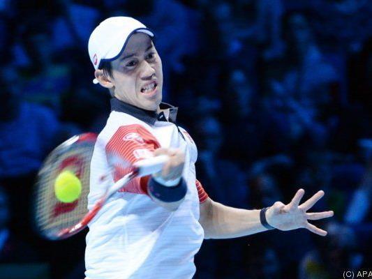 Nishikori mit gutem Start in die ATP-Finals