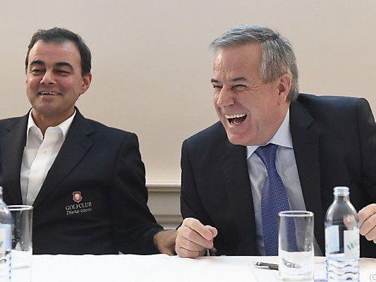 Schultz (l.) und Wolf (r.) machen gute Stimmung