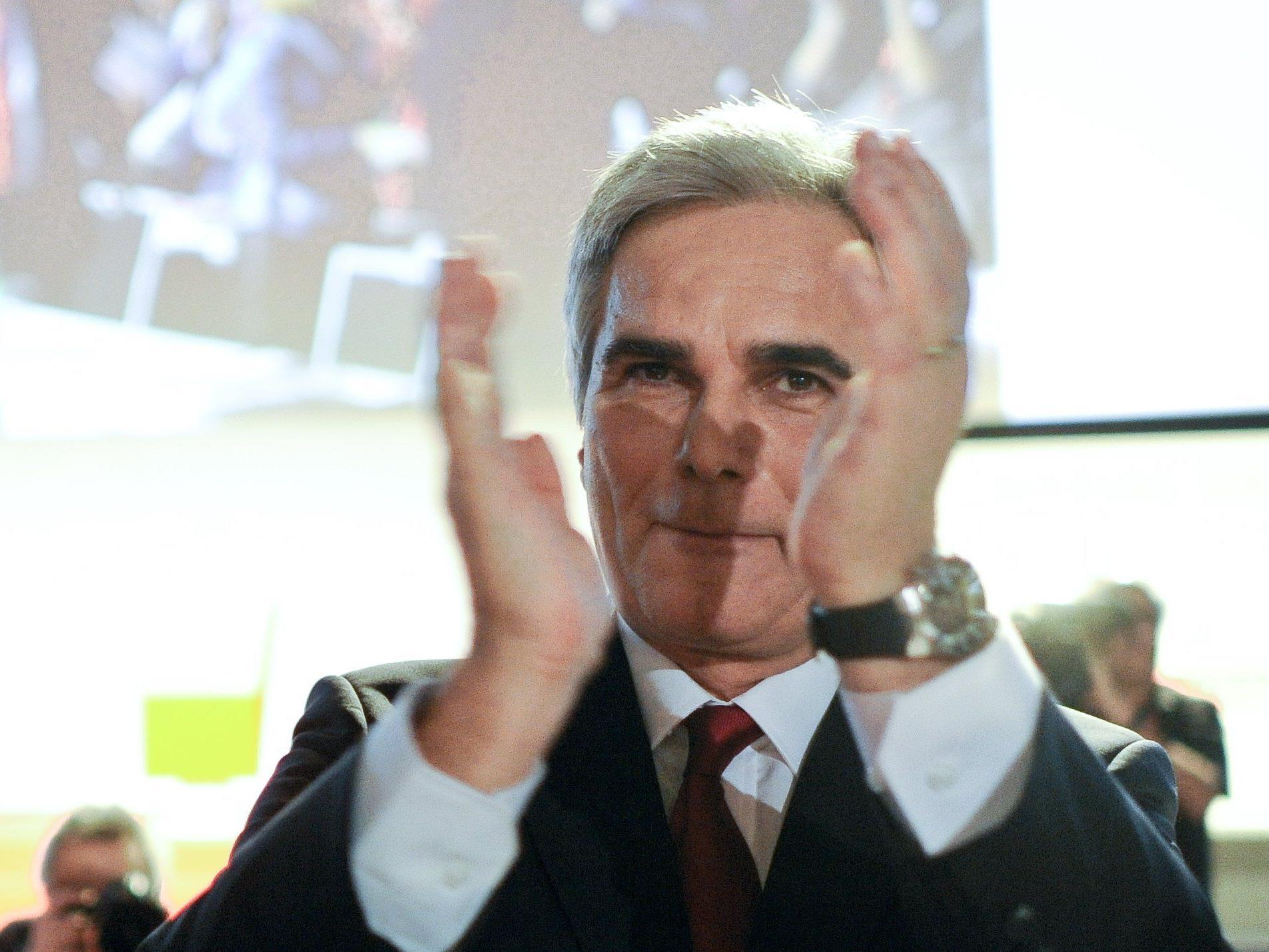 SPÖ-Parteitag: Faymann hochgerechnet - Parteichef holte 83,9